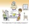 Cartoon: Abracadabra (small) by joruju piroshiki tagged abracadabra magic tea newspaper pot husband