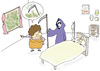Cartoon: Death (small) by joruju piroshiki tagged death,garden,bed,woman