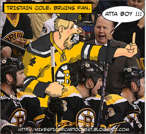Cartoon: Behind the Bench (medium) by Mike Spicer tagged bostonbruins,hockeycartoons,stanleycup