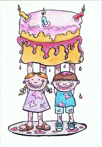 Cake For Mum By Kerina Strevens Love Cartoon Toonpool