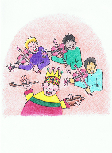 Cartoon: Old King Cole (medium) by Kerina Strevens tagged rhyme,nursery,children,humour,fun,king