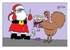 Cartoon: Happy Christmas Everyone! (small) by Kerina Strevens tagged happy,christmas,santa,turkey,present,fun