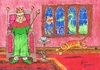 Cartoon: To See The Queen (small) by Kerina Strevens tagged queen,london,chair,throne,cat,feline,mouse,chase,nursery,rhyme