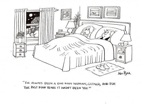 Toon agent one man woman von ken for Bett zeichnung