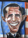 Cartoon: Barack Obamma (small) by lea tagged barack,obamma