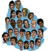 Cartoon: URUGUAYAN SOCCER TEAM (small) by lea tagged urugayan,soccer,team