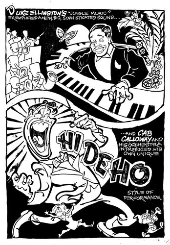 Cartoon: Ellington and Calloway (medium) by Milton tagged duke,ellington,cab,calloway,jazz,swing,american,music