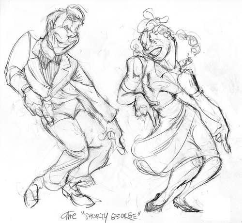 Cartoon: Swing Dancers (medium) by Milton tagged milton,knight,swing,dancing,jitterbug,1940s