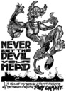 Cartoon: Never Bet the Devil your Head (small) by Milton tagged milton,knight,edgar,allan,poe,devil,satan,hell,fantasy