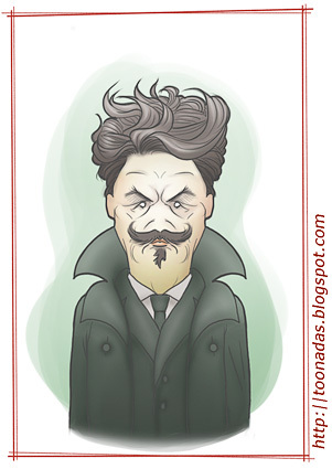 Cartoon: August Strindberg (medium) by Freelah tagged august,strindberg