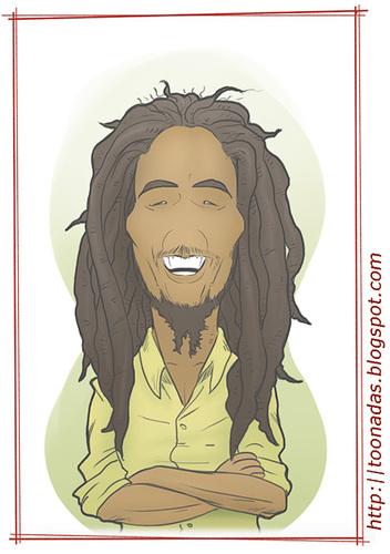 Bob Marley By Freelah Famous People Cartoon Toonpool