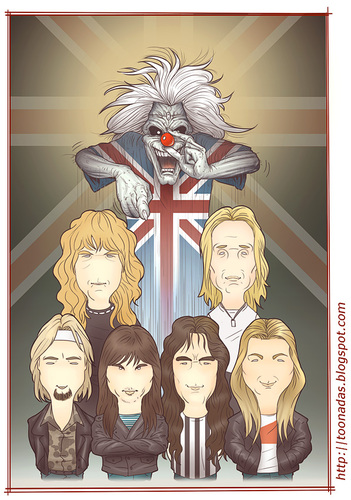 Cartoon: Iron Maiden - color (medium) by Freelah tagged iron,maiden