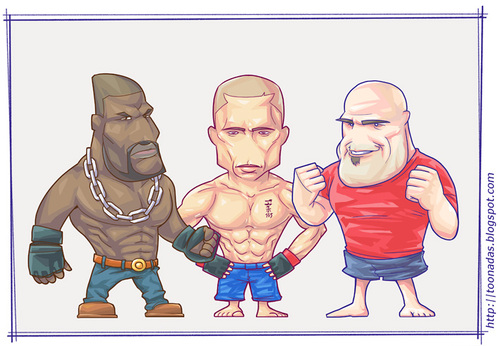 Cartoon ufc fighters medium by freelah tagged mma fighters