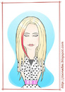 Cartoon: Avril Lavigne (small) by Freelah tagged avril,lavigne,pop,music