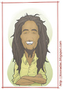 Cartoon: Bob Marley (small) by Freelah tagged bob marley