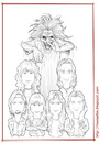 Cartoon: Iron Maiden - lines (small) by Freelah tagged iron,maiden
