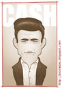 Cartoon: Johnny Cash (small) by Freelah tagged johnny,cash