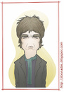 Cartoon: Noel Gallagher (small) by Freelah tagged noel,gallagher,oasis