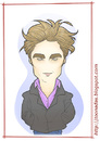 Cartoon: Robert Pattinson as E. Cullen (small) by Freelah tagged robert,pattinson,edward,cullen,twilight