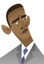 Cartoon: Barack Obama (small) by fubu tagged barack,obama,usa,amrika,america,united,states,president,yes,we,can,white,house