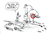 Cartoon: Tempolimit (small) by Klaus Pitter tagged auto,geschwindigkeit,polizist,strafzettel,tempolimit