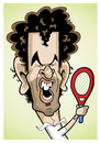 Cartoon: Andy Murray (small) by Ca11an tagged andy,murray,scottish,british,caricature