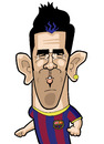 Cartoon: David Villa (small) by Ca11an tagged vavid villa barcalona spain caricatures world cup legends book