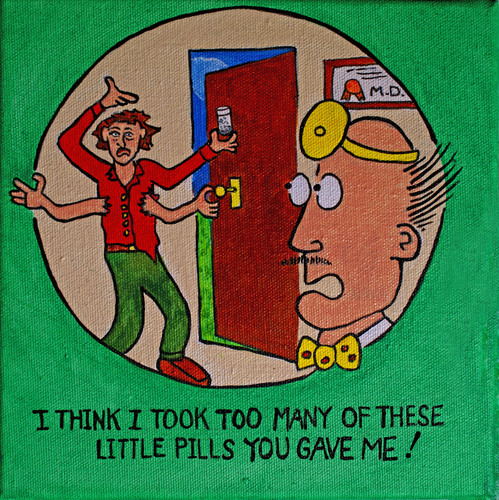 Cartoon: Too Many Pills! (medium) by David_Bromley tagged doctor,medicine,side,effect