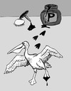 Cartoon: Pelican - in the Ink (small) by David_Bromley tagged pelikan,ink,pelican,india,egg
