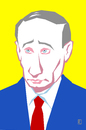 Cartoon: Wladimir Putin (small) by Jan Rieckhoff tagged wladimir,putin,präsident,russland,russische,föderation,ukraine,krim,annexion,krise,einmarsch,kalter,krieg,portrait,karikatur,jan,rieckhoff