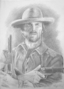 Cartoon: josey wales (small) by hype tagged clint,eastwood,josey,wales,pencil,canvas