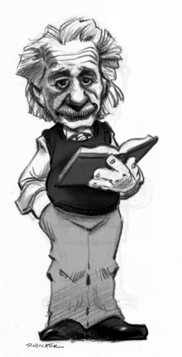 Cartoon: Albert Einstein (medium) by r8r tagged albert,einstein,caricature,cartoon,physics,relativity,space,time,science,scientific,albert einstein,wissenschaft,wissenschaftler,karikatur,portrait,physik,nobelpreisträger,nobelpreise,relativitätstheorie,genie,physiker,albert,einstein