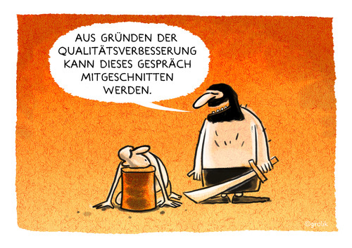 Cartoon: ... (medium) by markus-grolik tagged qualitätssicherung,verbesserung,optimierungszwang,servie,dienstleistung,mitarbeiter,am,kunden,cartoon,grolik