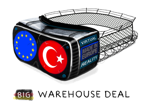 Cartoon: ... (medium) by markus-grolik tagged eu,gipfel,türkei,merkel,deal,flüchtlinge,virtual,reality,flüchtlingspolitik,politik,brüssel,europa,werte,wertegemeinscaft,assyl,griechenland,idomeni,menschenrechte,grolik,verkauf,eu,gipfel,türkei,merkel,deal,flüchtlinge,virtual,reality,flüchtlingspolitik,politik,brüssel,europa,werte,wertegemeinscaft,assyl,griechenland,idomeni,menschenrechte,grolik,verkauf
