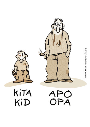 Cartoon: APO Opa (medium) by markus-grolik tagged jugend,familie,generationen