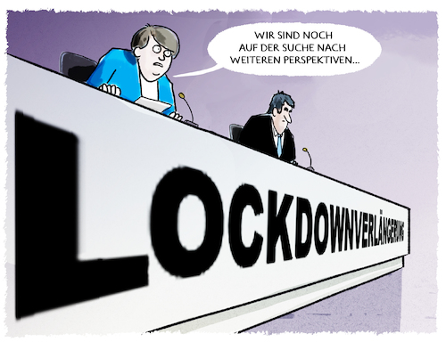 Cartoon: Aussichten... (medium) by markus-grolik tagged bund,merkel,länder,corona,lockdown,verlängerung,shutdown,perspektiven,pressekonferenz,söder,bund,merkel,länder,corona,lockdown,verlängerung,shutdown,perspektiven,pressekonferenz,söder