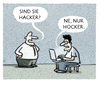 Cartoon: ... (small) by markus-grolik tagged software,sicherheit,schädling,viren,trojaner,pc,digital,cartoon,grolik
