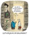 Cartoon: ... (small) by markus-grolik tagged martin,luther,reformation,thesen,thesenanschlag,lutherjahr,protestant,protestantismus,glaubensfrage