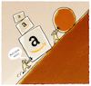 Cartoon: ... (small) by markus-grolik tagged amazon,sissyphus,mythos,mythen,sinn,leben,konsum,lebenssinn,dasein,existenz