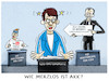 Cartoon: Annegret Kramp-Karrenbauer (small) by markus-grolik tagged annegret,kramp,karrenbauer,akk,cdu,friedrich,merz,umfrage,emnid,blackrock,rezo,youtube,parteivorsitz,merkel