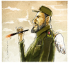 Cartoon: Castro (small) by markus-grolik tagged kuba,fidel,castro,zigarre