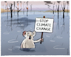 Cartoon: ..down under... (small) by markus-grolik tagged koala,buschbraende,australien,klimawandel,climate,change,co2,sydney,melbourne,regen,überschwemmungen