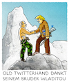 Cartoon: ..in full HD.. (small) by markus-grolik tagged trump,manipulation,twitter,hacker,putin,vladimir,donald,internet,social,media,usa,wahlkampf,us,wahlen,clinton,republikaner,tv,winnetou,old,shatterhand,bot,bots,troll,karl,maye