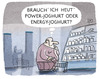 Cartoon: Tagesform (small) by markus-grolik tagged joghurt,entscheidung,konsum,geld,einkauf,supermarkt,power,energie,cartoon,grolik