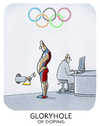 Cartoon: ..olympisch... (small) by markus-grolik tagged doping,olympia,russland,spitzensport,usa,eigenblut,rio,funktionäre,kontrolle