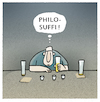Cartoon: ..sophieren... (small) by markus-grolik tagged philosophie,wortspiel,suff,alkohol,bar,kneipe,suffi,bier