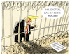Cartoon: ...trapped... (small) by markus-grolik tagged trump,mexiko,usa,grenze,grenzzaun,mauer,pentagon,immigration,donald