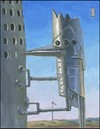 Cartoon: Robo-pecker (small) by greg hergert tagged wind,power,woodpeckers,big,oil