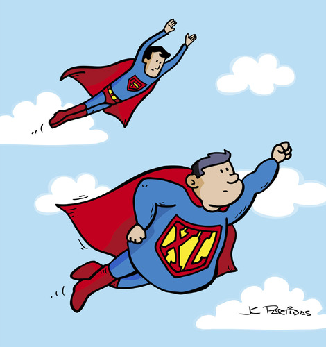 Superhero Cartoon Characters Flying Cartoon: super (medium) by