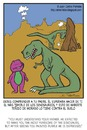 Cartoon: Disappointment (small) by Juan Carlos Partidas tagged barney dinosaur disappointment rex parents son family tiranosaur
